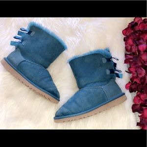 UGG Teal Suede Bailey Bow Uggs